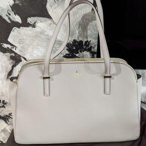 Kate Spade light gray shoulder bag